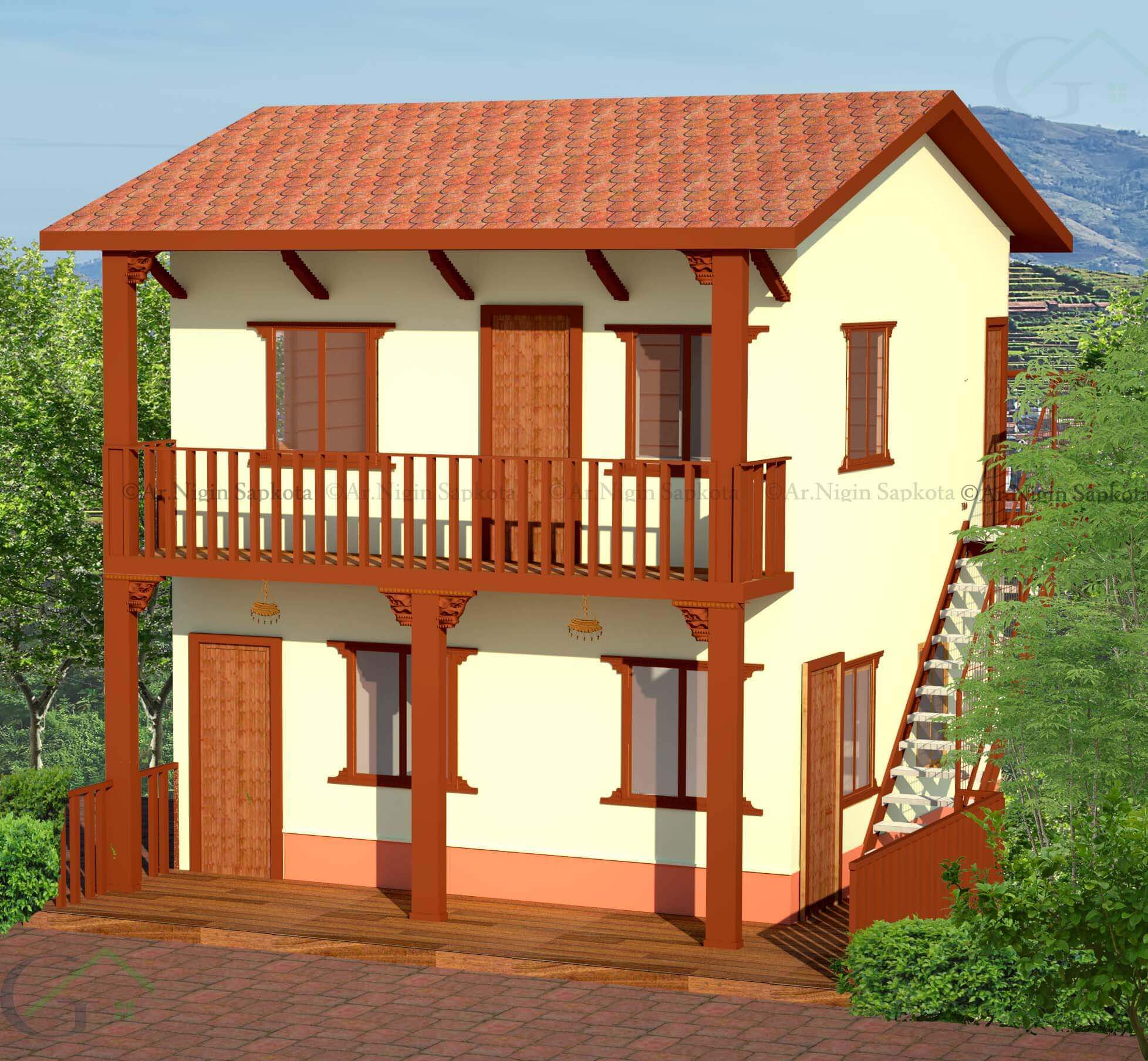 Terrific Steel Structured Prefab Traditional Nepali House Ga Home Interior And Landscaping Ologienasavecom